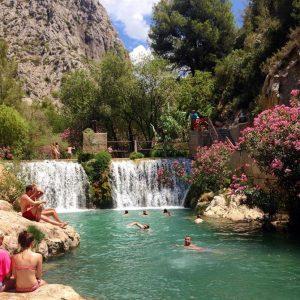 1. The Algar Waterfalls, Alicante