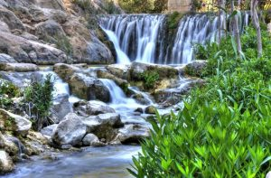 Dip into the Algar waterfall