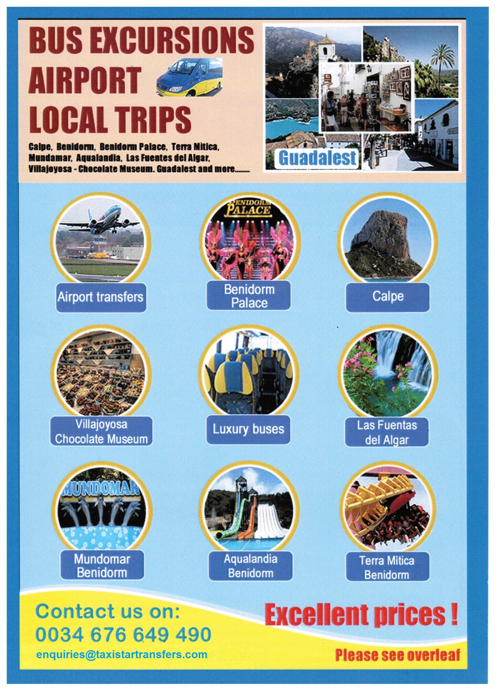 Taxistar Transfers Excursions-Excursiones